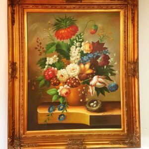 antique-painting-flowers