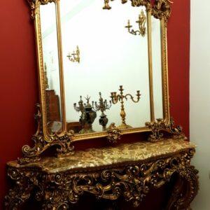 velicanstvena-drvena-konzola-mramornom-plocom-ogledalom-slika-114646304